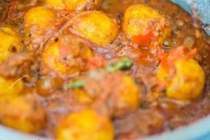 Vegan Bombay Potatoes done cooking