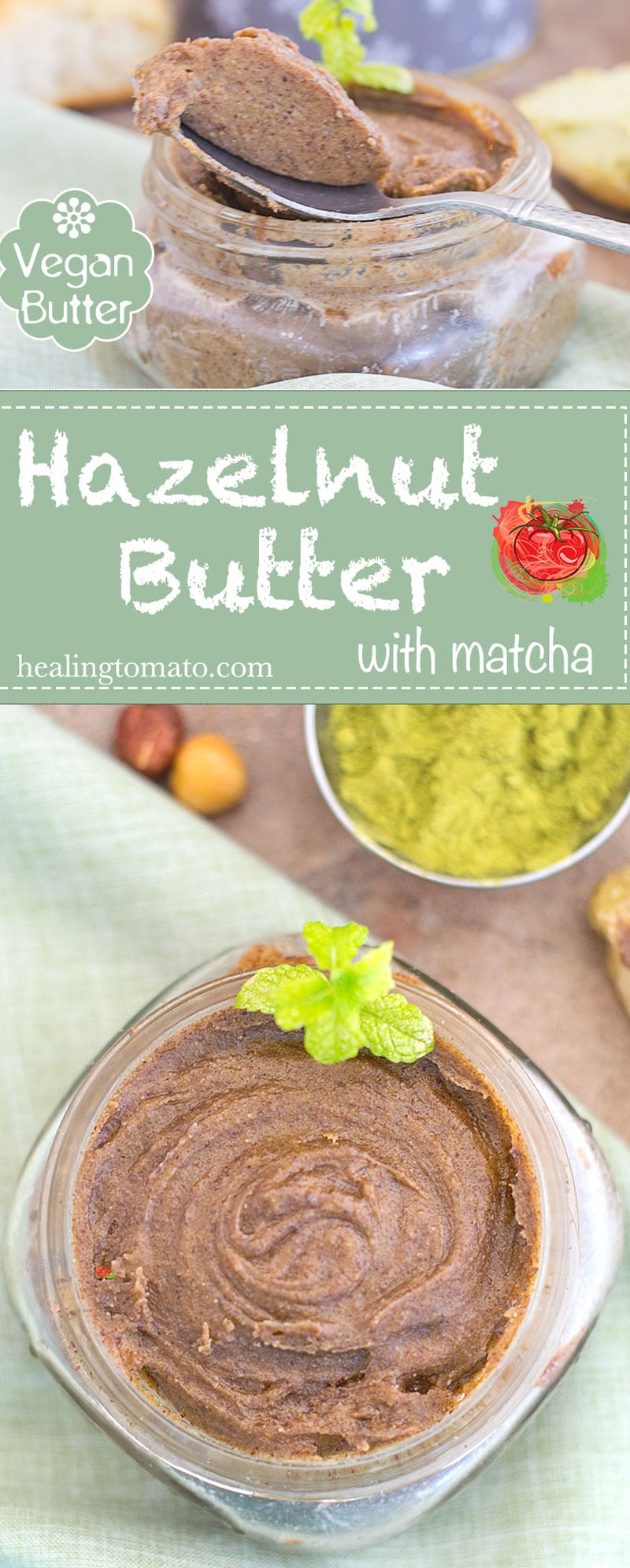 This matcha hazelnut butter is so easy to make and it is the perfect brunch or breakfast recipe. The hazelnut butter takes only 15 minutes to make in the NutraMilk Machine and its delicious.