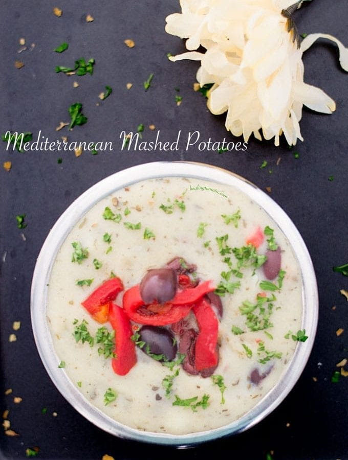 Mediterranean Mashed Potatoes in Pressure Cooker (Vegan)