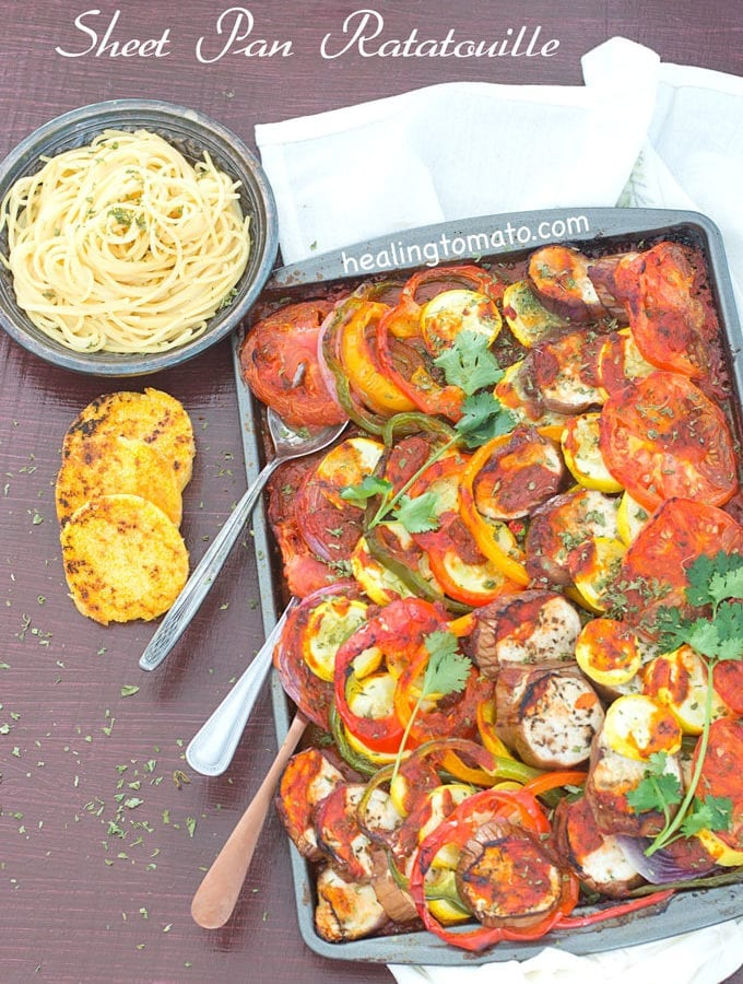 Ratatouille In A Sheet Pan