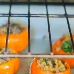 Stuffed Persimmons in the oven
