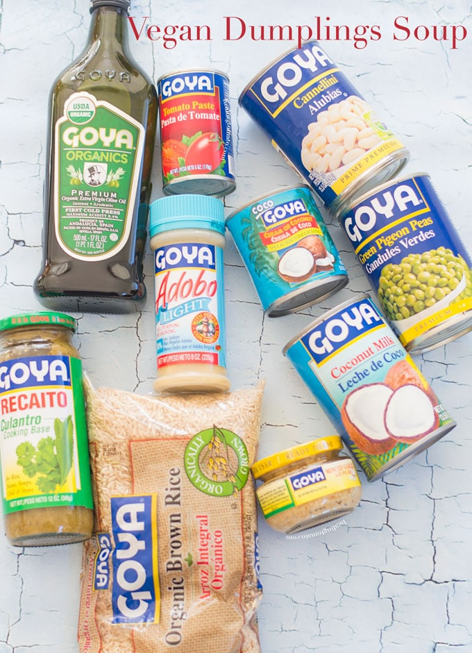 Ovehead view of various Goya Products
