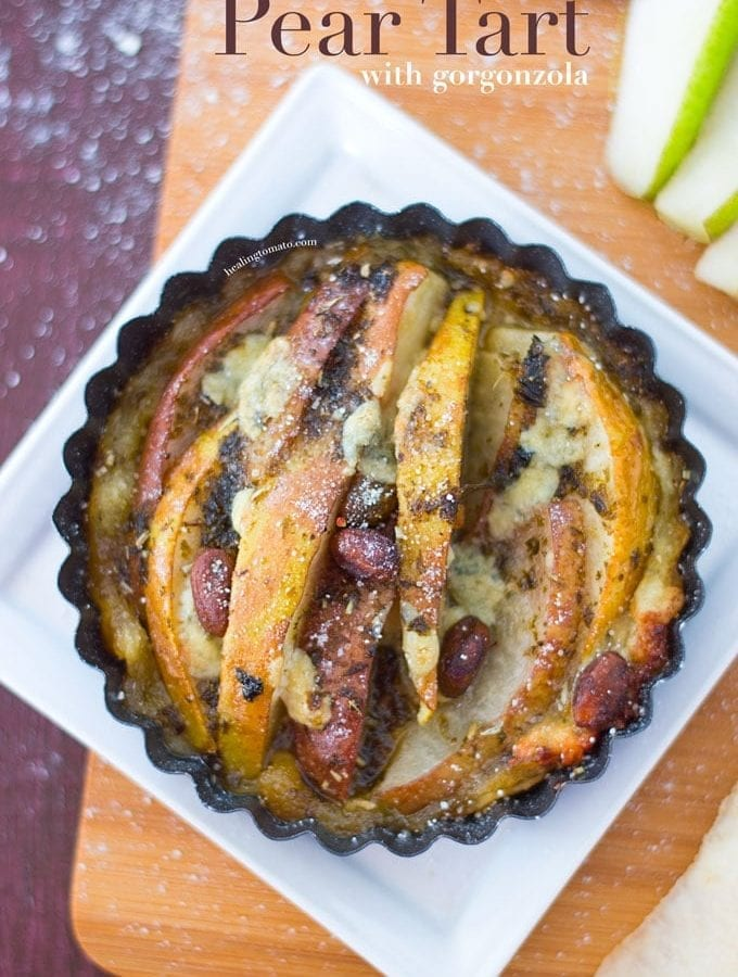 Pear Tart with Gorgonzola Cheese