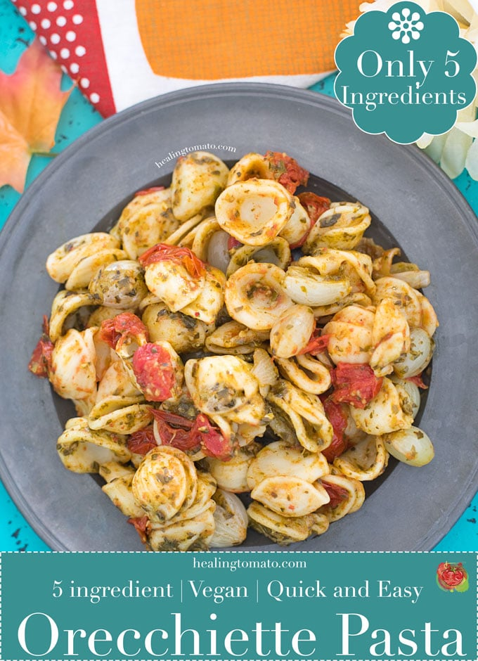 Vegan Orecchiette Pasta is made with only 5 Ingredients! | Family Recipes, Weeknight Dinners, Side Dishes #pasta #vegan #recipes #comfortfood #weeknightrecipes #pastanight #italian #veganitalian #sides