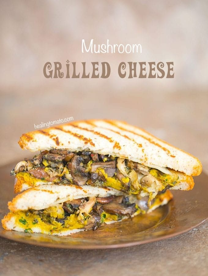 Grilled Cheese Sandwich With Mushrooms