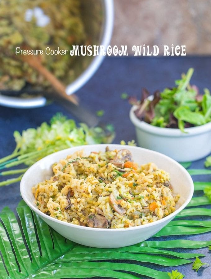 Wild Rice With Mushrooms (Pressure Cooker)