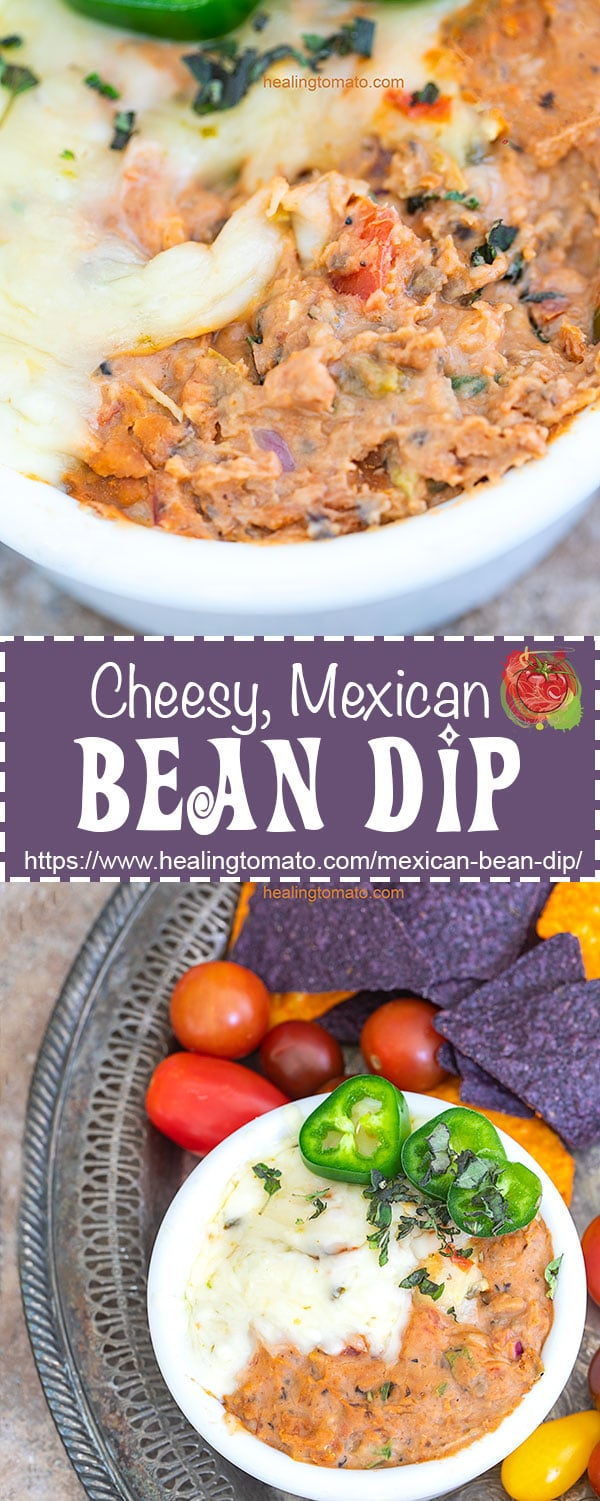 The Best Mexican bean dip with Warm Cream Cheese and refried beans. | Simple Bean dip, Easy bean dip, Cinco De Mayo, Vegetarian bean dip, game day appetizers, bean dip with salsa #vegetarian #beandip #dips #appetizers #mexican #cincodemayo #cheesy #easybeandip #vegetarian #mexican #dip #mexicandip #beandip #gameday #appetizers #cincodemayo #comfortfood #familymeals