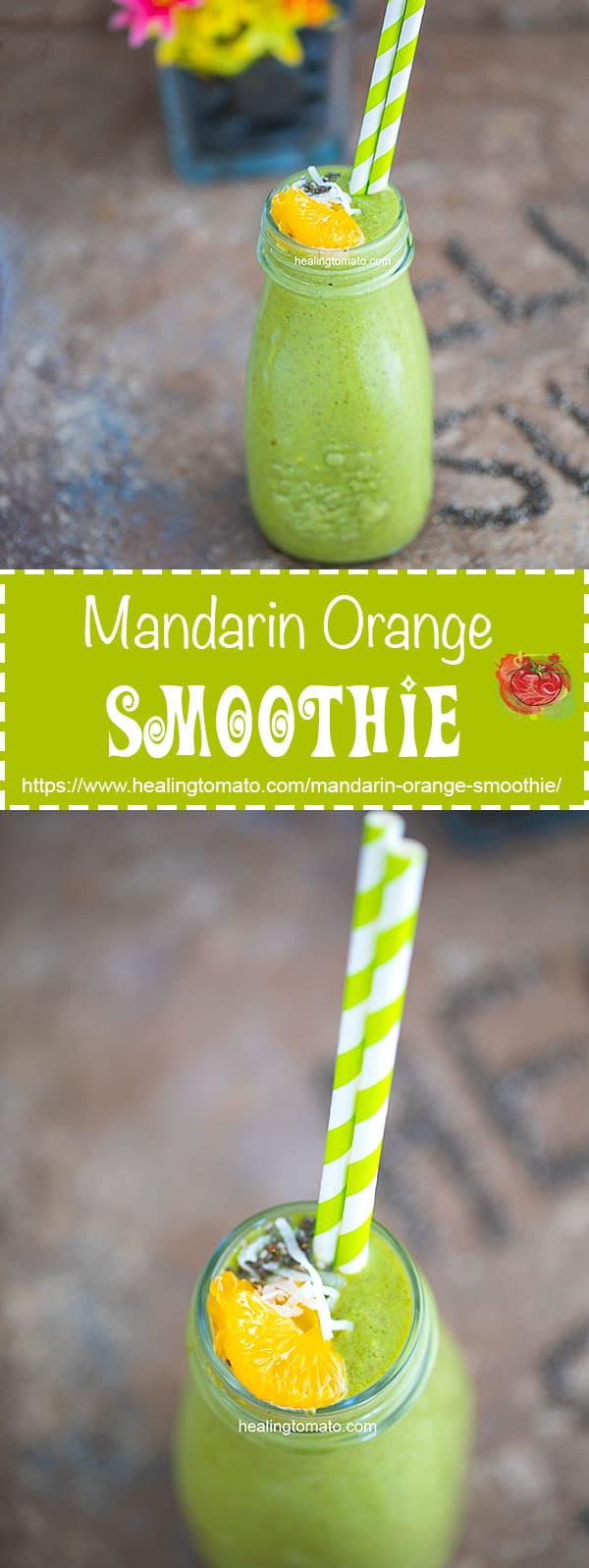 Vegan Mandarin Orange Smoothie Recipe made with antioxidants, vitamins and immune boosting ingredients! Vegan smoothie, Spinach Smoothie, Healthy recipes, Mandarin smoothies, vegan yogurt and packed with protein #vegan #vegetarian #smoothies #summer #drinks #healthy #recipes #veganfood #immuneboosting #refreshing #protein #summerdrinks