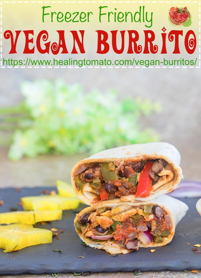 Easy, Freezer Friendly Vegan Burritos recipe made with Cuban flavors. I added sofrito and homemade Cuban seasoning to it. This vegan burrito is ready in 30 minutes and takes very little effort. I use gluten free tortillas and they tasted delicious!! #ad #MissionGlutenFree #vegan #vegeatarian #glutenfree #freezerfriendly #comfortfood #mealprep #veganmealprep #burritos #mexican #cincodemayo