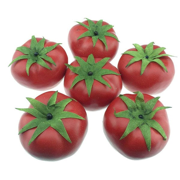 6 decorative tomatoes arranged in a circle - 10 Gag Gifts to Give Tomato Lovers