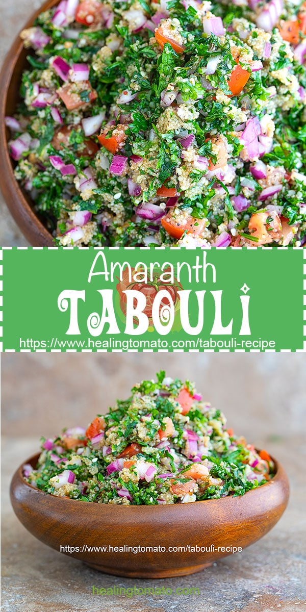 Vegan tabouli salad with amaranth, healthy tabouli salad, easy tabouli salad, mediterranean tabouli salad, Homemade tabouli salad. Tabouli, tabouleh, amaranth recipes, healthy amaranth recipes, savory amaranth recipes, how to make tabouli using amaranth #amaranth #tabouli #tabouleh #healthy #vegan #veganrecipes #healthysalads, #middleeastern #lunch #recipes #tomato #hempseeds #homemade #healingtomato