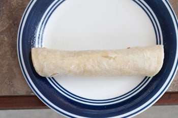 rolled and oiled taquito on a plate - Vegan Taquitos