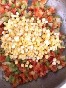 Corn kernels added to pan - how to make creamed corn