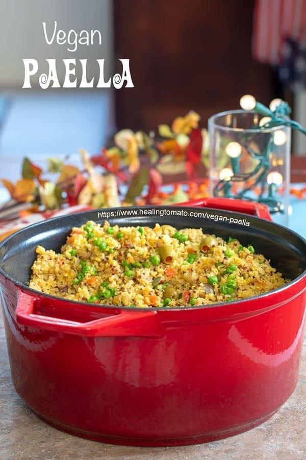 Vegan Paella With Quinoa