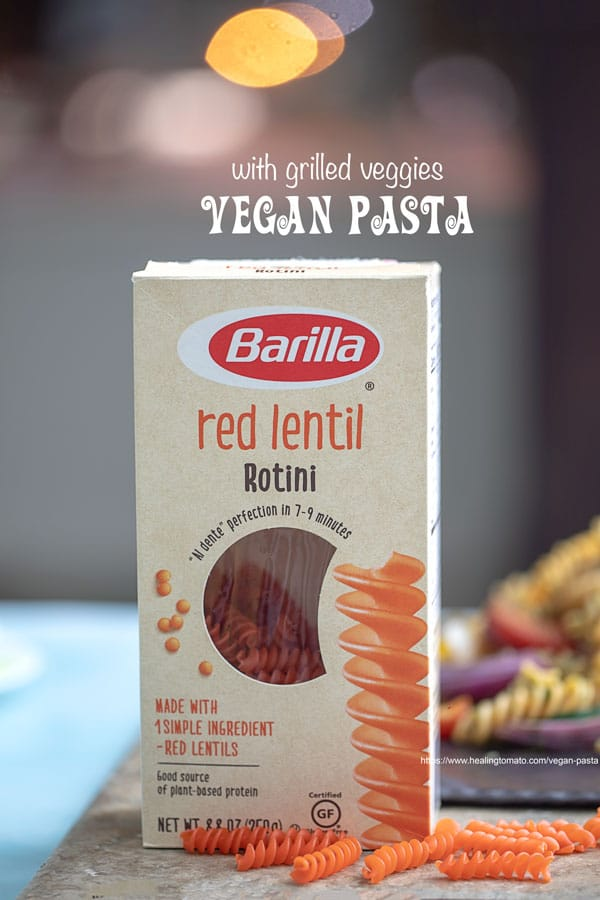 Front View of Barilla Red Lentil Rotini Packaging