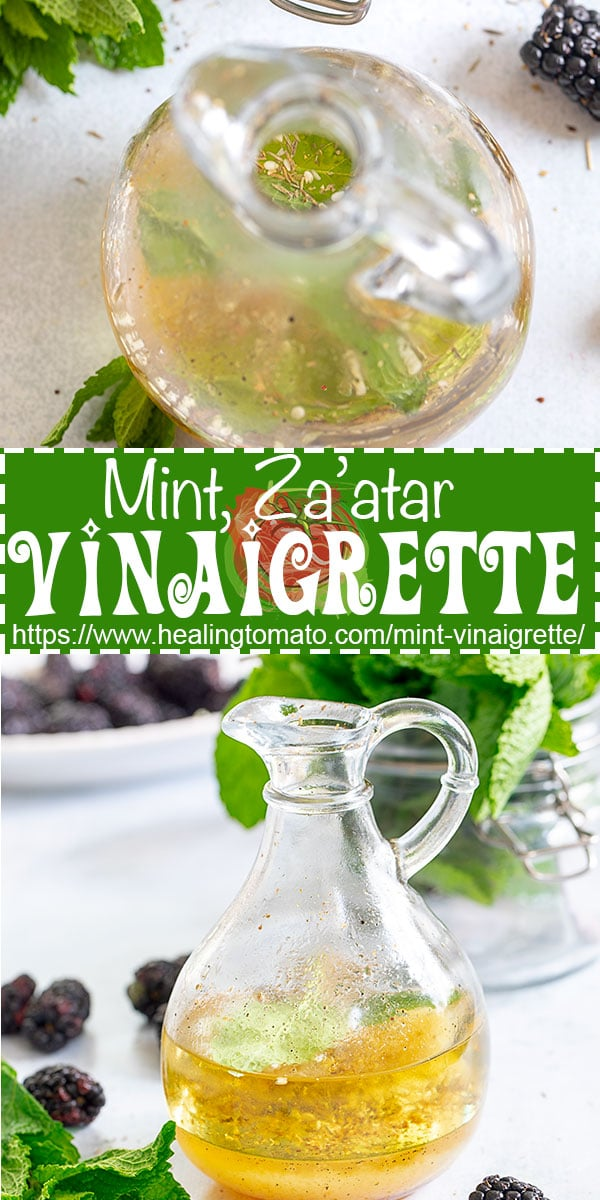 The best mint vinaigrette recipe with Za'atar and ready in 5 minutes @healingtomato