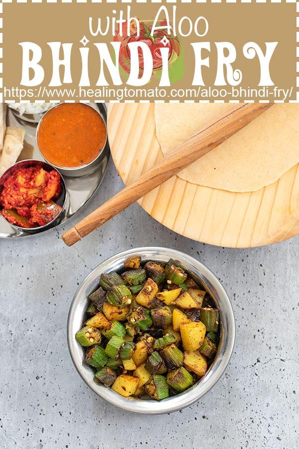 Gujrati style bhindi fry with aloo and spices. #healingtomato #okra #bhindi #bhindialoo #okra #recipe #indianstyle @healingtomato