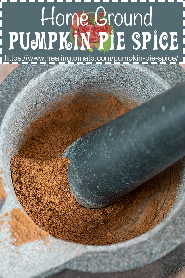 Homemade pumpkin pie spice ground using a mortar and pestle #healingtomato #mortarandpestle #pumpkinpiespice #pumpkinspice @healingtomato