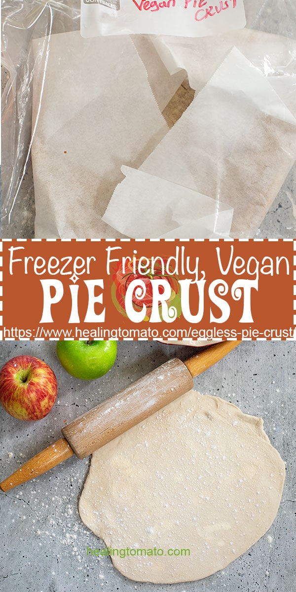 Looking for an easy pie crust recipe? This vegan pie crust recipe is made from scratch and is very flaky #healingtomato #piecrust #veganrecipes #vegandessers #veganthanksgiving #veganfood @healingtomato