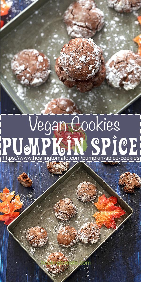 How to bake vegan pumpkin spice cookies using just simple ingredients #healingtomato #cookies #pumpkinspice #pumpkincookies #vegancookies #vegandesserts @healingtomato