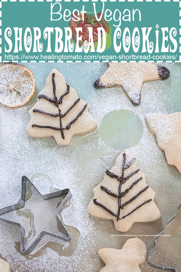 How to bake vegan shortbread cookies for Christmas or anytime of the year #healingtomato #shortbread #cookies #desserts #christmascookies @healingtomato