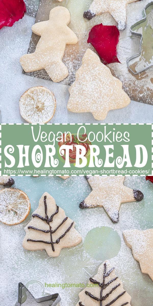 5 Ingredient vegan shortbread cookies recipe is easy to bake #healingtomato #shortbread #cookies #holidaycookies #vegancookies @healingtomato