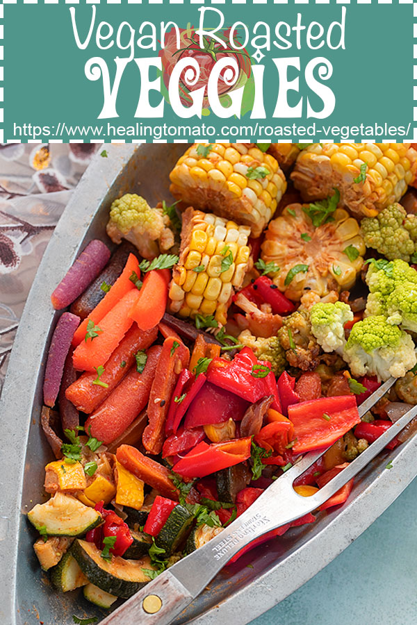 Easy oven roasted vegetables in a vegan brown butter sauce. @healingtomato #healingtomato #vegan #roastedvegetables #gochujang #veganrecipes