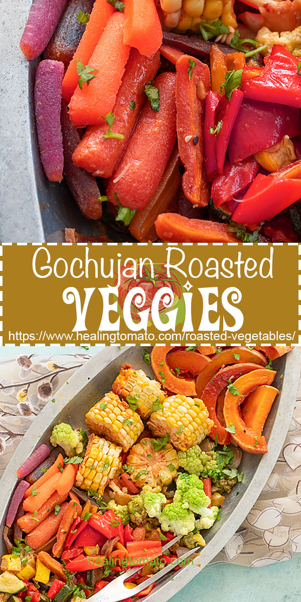 Roasted vegetables are