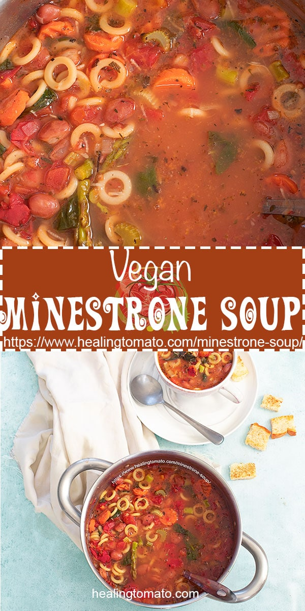 Tips on making the best minestrone soup which is vegan friendly #healingtomato #minestrone #soup #vegansoup #minestronesoup @healingtomato
