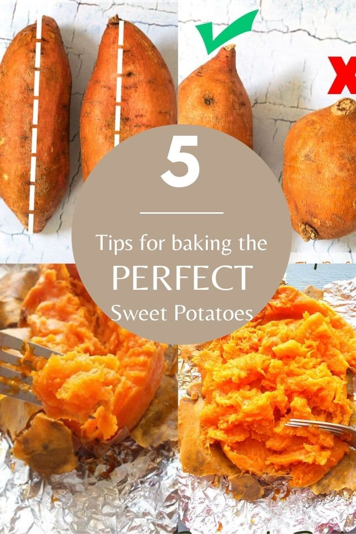 5 BEST Tips on baking the perfect sweet potato #tips #sweetpotato #baking #healthy