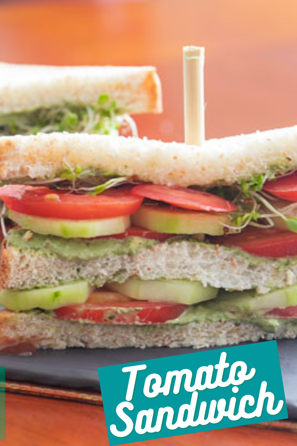 The BEST Damn Tomato sandwich made with 6 ingredients and ready in just 10 minutes!