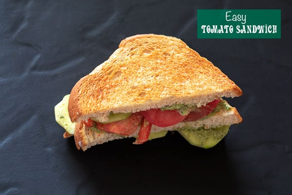 Top view of the sandwich as toasted and not plain.
